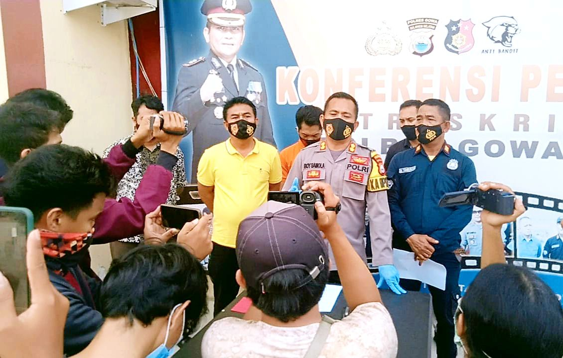 Pasca Press Conference Kasus, Kapolres Gowa Pamitan ke Awak Media